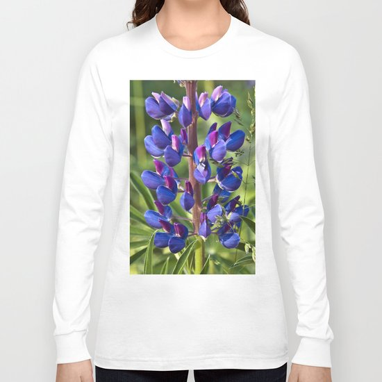 Summer Meadow with Blue Lupine Long Sleeve T-shirt