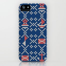Grandma's knitting pattern for Saylor's Ugly sweater #2 iPhone Case