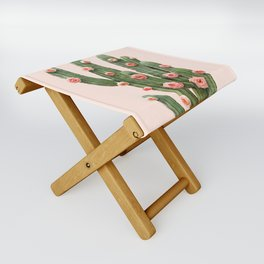 CACTUS AND ROSES Folding Stool