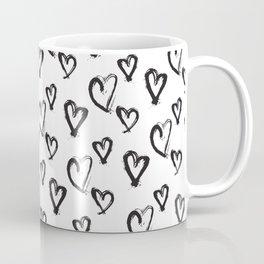 Hearts, Print, Minimal, Scandinavian, Abstract, Pattern, Modern art Coffee Mug