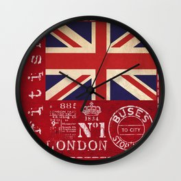 Union Jack Great Britain Flag Wall Clock
