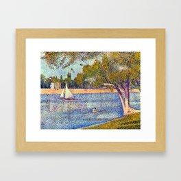 Georges Seurat The Seine and la Grande Jatte - Springtime Framed Art Print