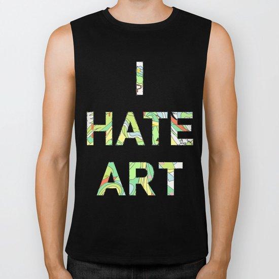 I HATE ART Biker Tank