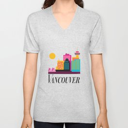 Vancouver Coal Harbour Unisex V-Neck