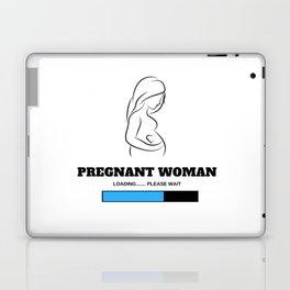 Pregnant Woman Loading Please Wait (Boy) Laptop & iPad Skin