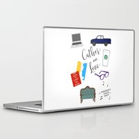 levi Laptop & iPad Skins featuring Cather and Levi by Book Spectacle