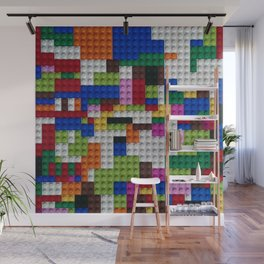 Square of lego blocks. Wall Mural