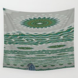 Green and Snowblue Egg 1 Wall Tapestry