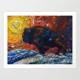 Wild the Storm Art Print