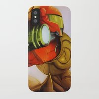 metroid iPhone & iPod Cases featuring Metroid by JeyJey Artworks