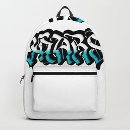 White and Blue Marseille Backpack