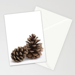 Two pinecones Stationery Cards
