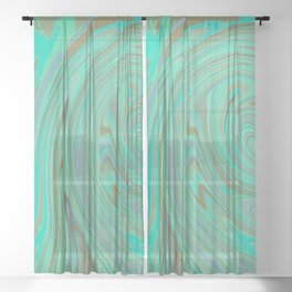 GREEN FANCY Sheer Curtain