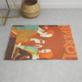 Aperol 'Salute!' Wine and Wine Alcohol Aperitif Vintage Advertisement Poster Rug