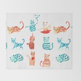 cats time Throw Blanket