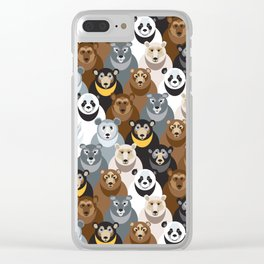 Bears Bears Bears Clear iPhone Case