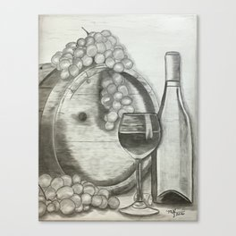 Stained Wine Barrel Canvas Print