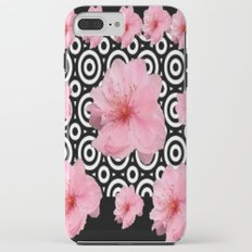Black-Wite Contemporary Pink Cherry Blossoms Art Design. Tough Case iPhone 7 Plus