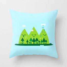 Monday Mountains Throw Pillow