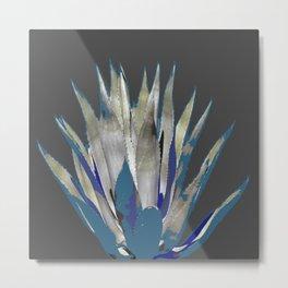 BLUE-GREY AGAVE DESERT CACTUS Metal Print