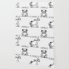 Inhale Exhale Pug Wallpaper