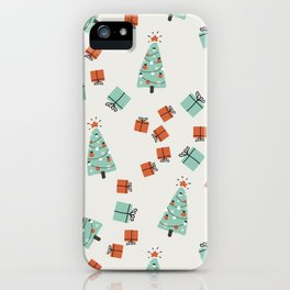 Cute Christmas pattern iPhone Case