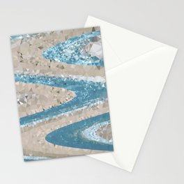 Ocean Geometric Stationery Cards