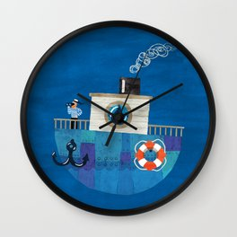 Lonely Sailor Wall Clock