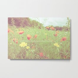 A life without love is like a year without summer.  Metal Print
