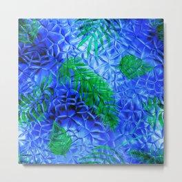 in the blue fern Metal Print