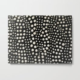 Black and white cercles african weave Metal Print