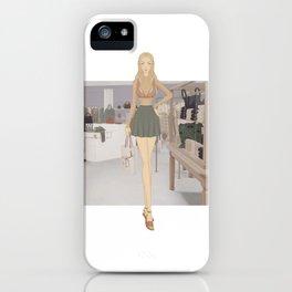 Stylized Signature Shopping Fashion Illustration A iPhone Case