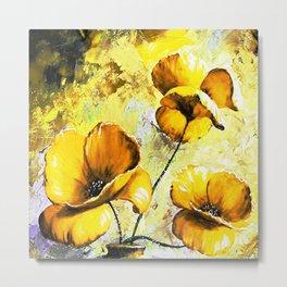 BIG YELLOW FLOWERS Metal Print