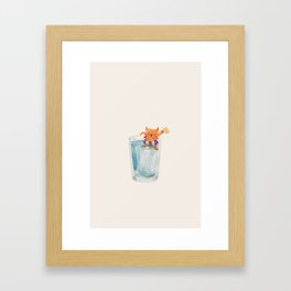Happiness In a Glass Framed Art Print