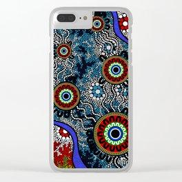 Aboriginal Art – Camping Clear iPhone Case