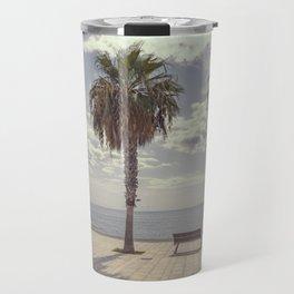 Palm trees in Palma de Mallorca Travel Mug