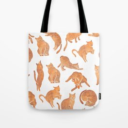 Cat Poses Tote Bag