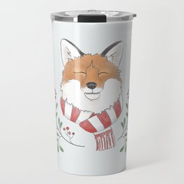 Holiday Fox Travel Mug