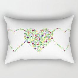 Big flower heart Rectangular Pillow