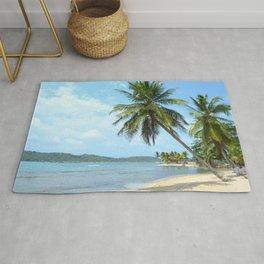 The Caribbean beach 01 Rug
