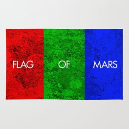 THE FLAG OF MARS Rug
