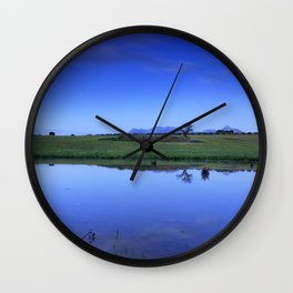 Lonely tree at sunset. Vega star at Lira. Wall Clock