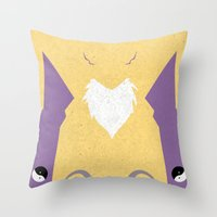 digimon Throw Pillows featuring Renamon by JHTY