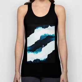 Teal Isolation Unisex Tank Top
