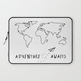 Adventure Map on White Laptop Sleeve