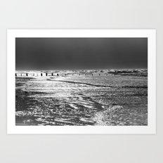 Berrow Beach Art Print