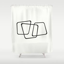 Simply Minimal - Black and white abstract Shower Curtain