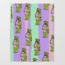 TEDDY BEAR DADDY TEDDY BEAR BABY PATTERN Poster