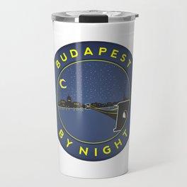 Budapest By Night, circle with frame Travel Mug