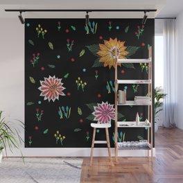 Digital Flora Wall Mural